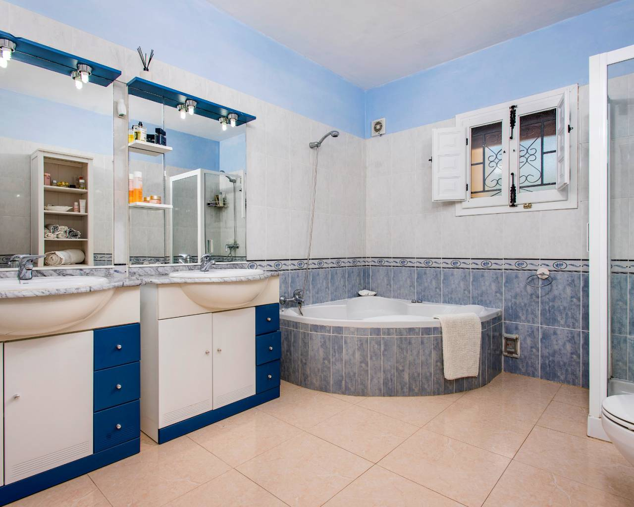 Bathroom | Country house with private pool for sale in Almoradí
